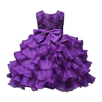 6c6cfe5602df4 Yochyan 子供 女の子 プリンセスドレス ノースリーブ 可愛い キュート 子供服 ベビー服 ドレス 柔らかい キッズドレス 無地