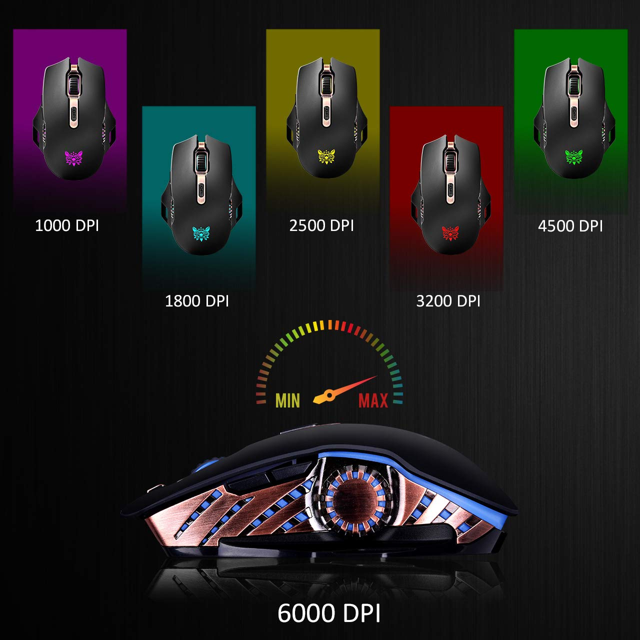 Onikuma Lag Free Wired Wireless Gaming Mouse Wiring Diagram Optical Picture Along With Rechargeable Accurate 16000 5g Sensor 168 Million Chroma Rgb 6 Breathing Backlit