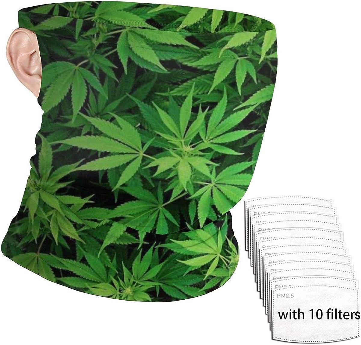 Non médical respirant Cool Skull Weed Leaf visage couvrant//Guêtres//Snood