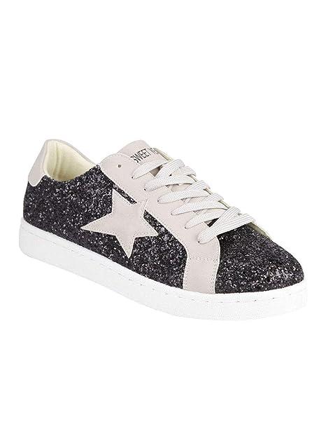 Glitterate Stella Con Donna EcopelleAmazon itScarpe Borse Sneakers E CxBerdo