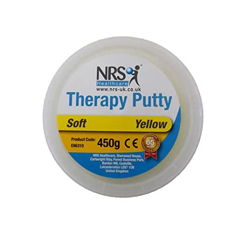 NRS Healthcare E86310 Hand Exercise Putty, Tub of 454g (1 lb) - Yellow, Soft
