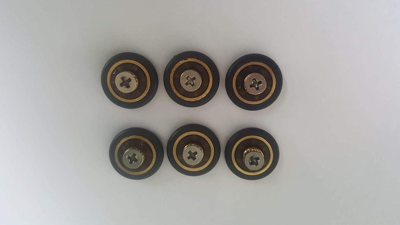 Ruedas con rodamientos para repuesto de mampara de ducha corrediza, 6 unidades, 16 mm de diámetro con tornillo M3. Tornillos incluidos: Amazon.es: Bricolaje y herramientas