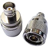 2 PCS N Type Male Plug To BNC Female Coaxial RF Connector Adapter