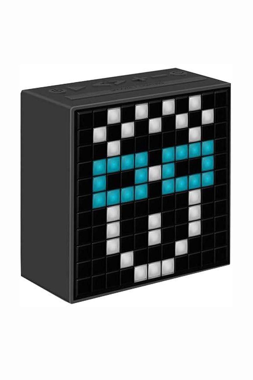 Divoom Timbox-Black - Altavoz con Bluetooth programable, Color Negro