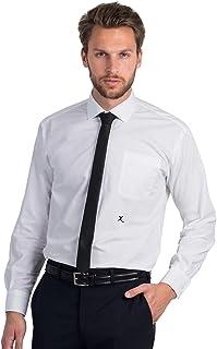 Camicia BCSMP41 con Iniziale Ricamata X Popeline Easy Care Long Sleeve Men- Tutte Le Taglie by tshirteria