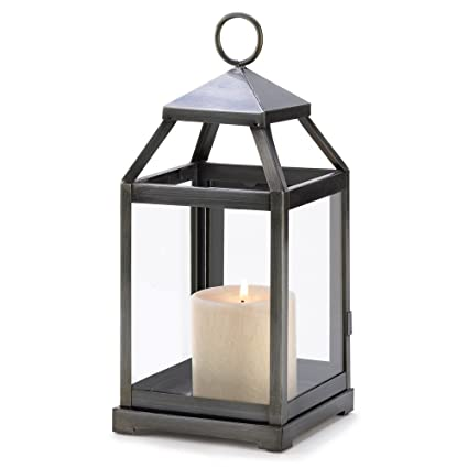 Charmant Gifts U0026 Decor Rustic Silver Candle Holder Hanging Garden Lantern