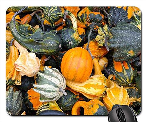 Mouse Pads - Pumpkins Decorative Squashes Green Autumn Orange