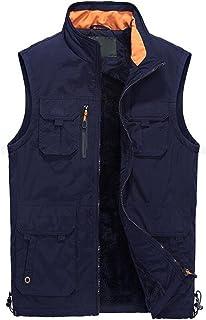 JBHURF Nuovo Giubbotto Esterno Casual Giacca Multi-Tasca Senza Maniche più Gilet di Spessore Casual Grande Abbigliamento Alpinismo 8 Tasche Kaki (Colore : Blue 2, Dimensioni : XXXL) JBHURF factory