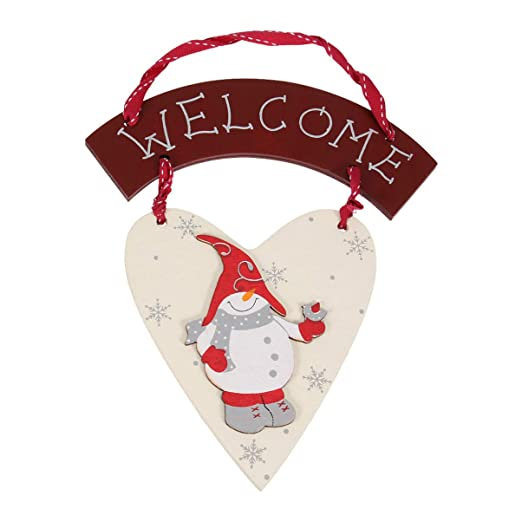 Amosfun Puerta de Navidad Decoraciones Colgantes Feliz ...