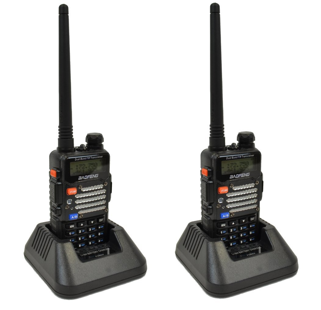Baofeng 2-Pack UV-5R V2+UV-5R V2+ Plus Dual-Band 136-174/400-480 MHz FM Ham Two-way Radio, Improved Stronger Case, Enhanced Features - Black 2 pack (Latest 2014 Firmware) by BaoFeng (Image #4)