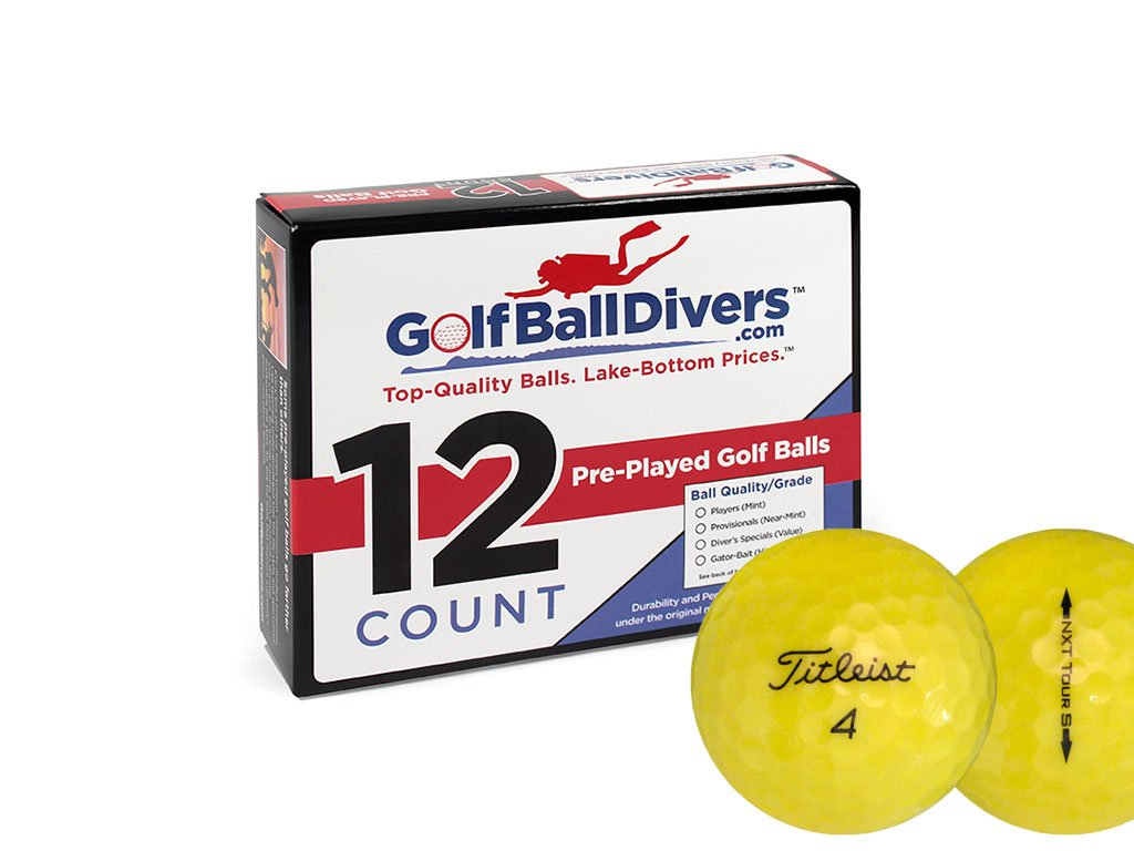 24 Titleist NXT Tour S Yellow - Value (AAA) Grade - Recycled (Used) Golf Balls