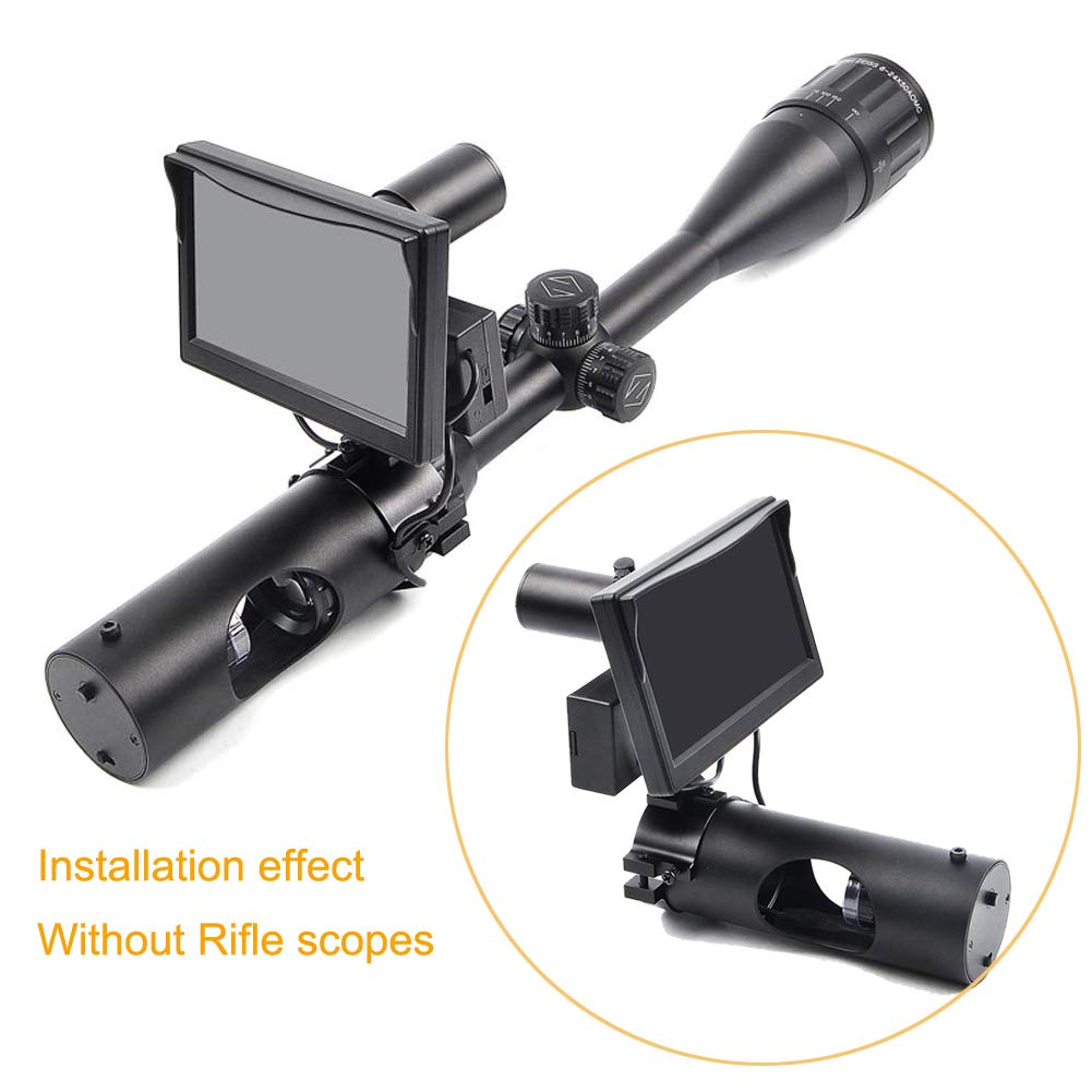 Digital Night Vision Scope for Rifle Hunting with Camera and 5'' Portable Display Screen by bestsight (Image #2)