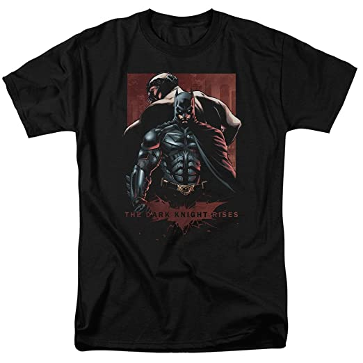 feaf2779d Trevco Men's Batman Dark Knight Rises Short Sleeve T-Shirt, Bane Black,  Small