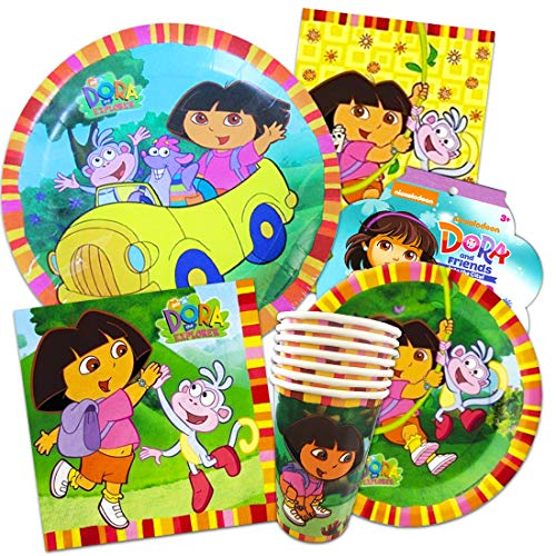 (Dora the Explorer Party Supplies Ultimate Set ~ Birthday Party Decorations, Party Favors, Plates, Cups, Napkins and More (Dora Party)
