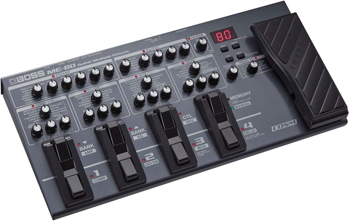 Boss ME-80 Multi-effets et Interface pour guitare casque Keepdrum