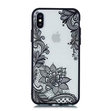 7db231f8b46 Keyihan iPhone 6 / 6S Funda Carcasa Flor de Encaje en Relieve Datura Tótem  Mandala Patrón