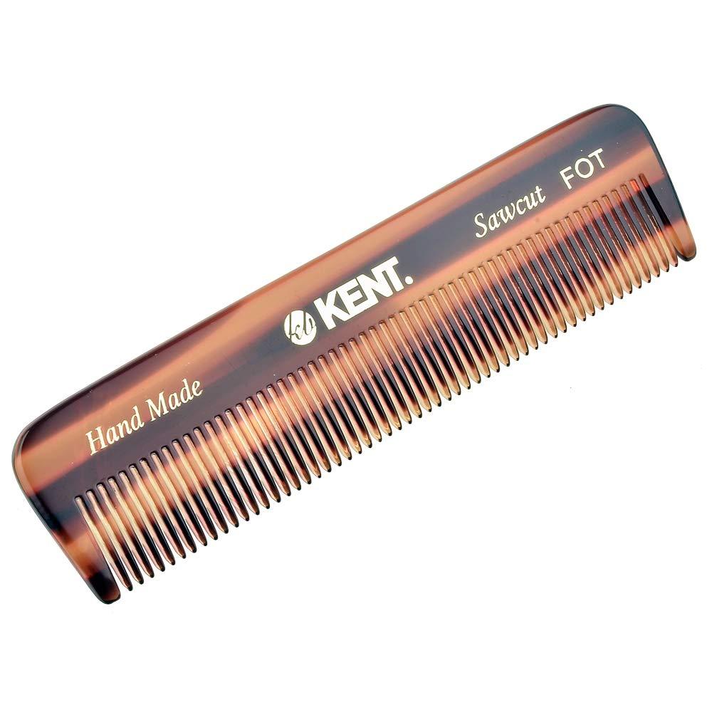 Kent FOT 4 1/2'' 112mm Handmade All Fine Pocket Comb for Styling Medium or Fine Hair (FOT 6-Pack)