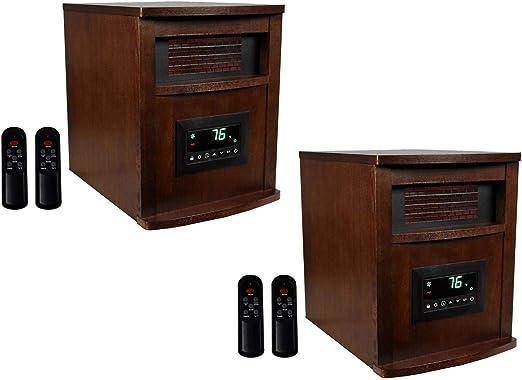 Amazon Com Lifesmart Lifepro 6 Element 1500w Portable Infrared Quartz Space Heaters Pair Home Kitchen