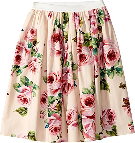 Dolce & Gabbana Kids Girl's Skirt (Big Kids) Rose Print 12 by Dolce & Gabbana
