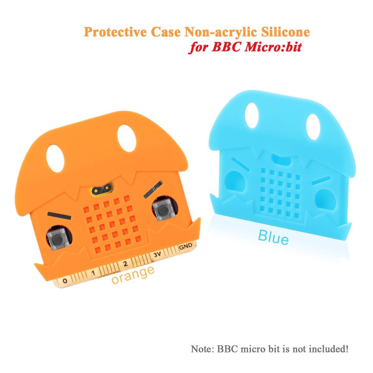 Bit Board Red und Orange Bit Schutzh/ülle Nicht-Acryl-Silikon-Case Cute Pattern weiche Mikrofaser und einfach zu Storage f/ür BBC Micro MakerHawk 2pcs Micro