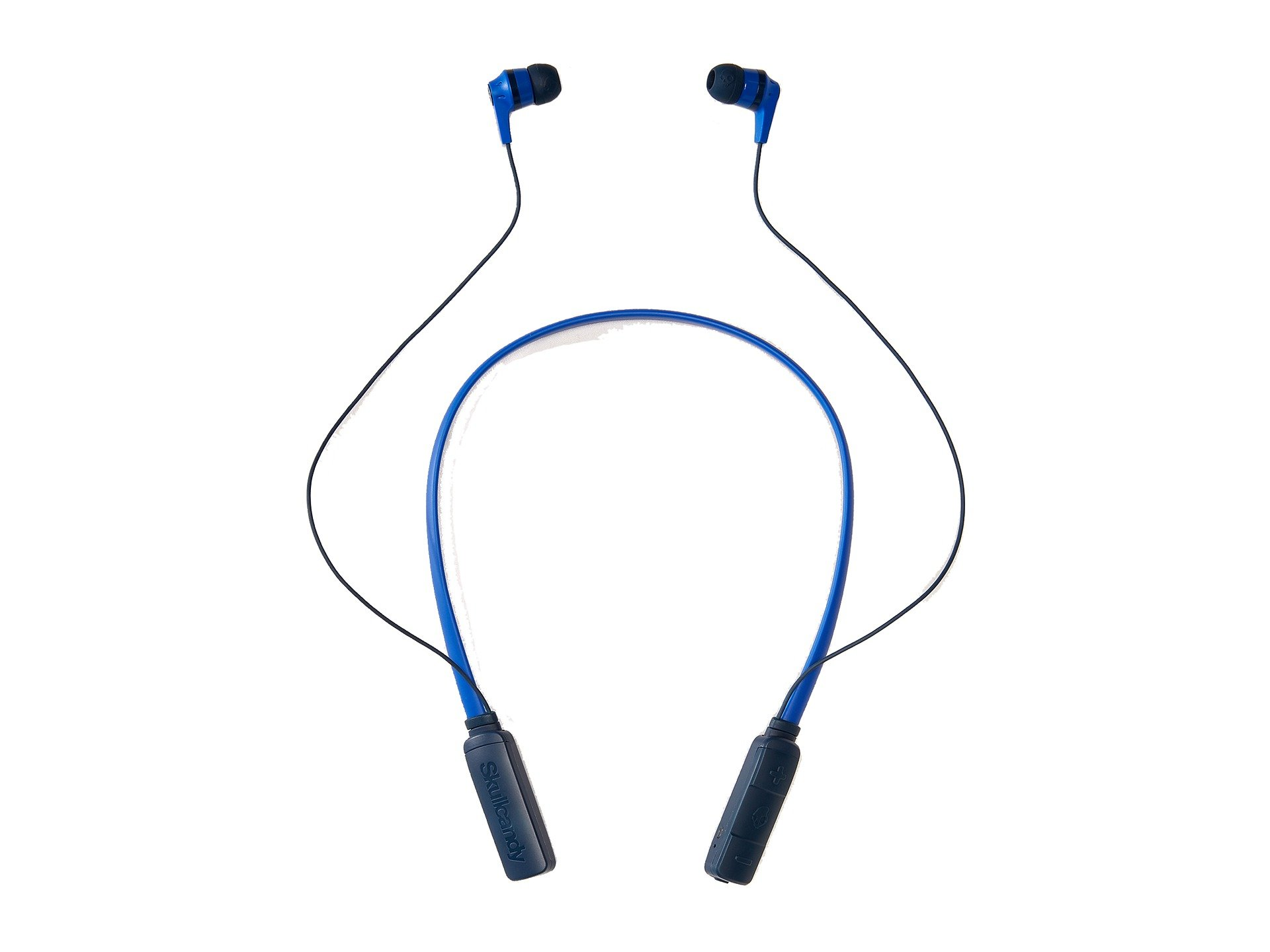 Skullcandy Ink'd Bluetooth Wireless Earbuds with Microphone, Noise Isolating Supreme Sound, 8-Hour Rechargeable Battery, Lightweight with Flexible Collar, Royal Blue