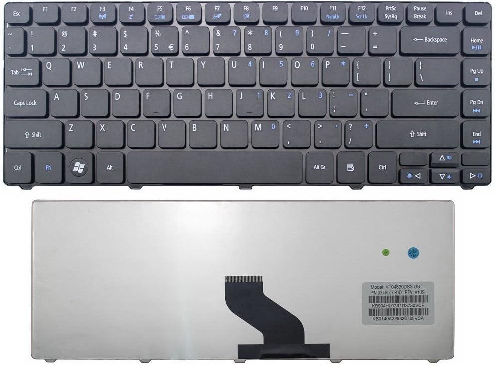 Looleking Laptop Keyboard for Acer Aspire 4552 4552G 4252 4752 4752G 4752Z 4752ZG 4339 4349 4350 4352G 4535 4540 4540G 4560 4625 4733Z 4736 4738 4739 4553G 4741 4741G 4741Z 4741ZG US Black