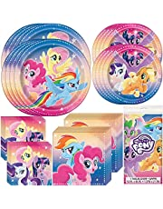 Unique My Little Pony Birthday Party Supplies and Decorations   Dinner and Dessert Paper Plates, Luncheon and Beverage Paper Napkins and Table Cover