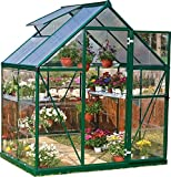 Cheap Palram Nature Series Hybrid Hobby Greenhouse – 6′ x 4′ x 7′, Forest Green