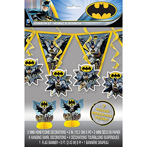 Unique Batman Party Decorating Kit, 7pc -