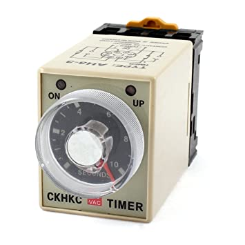 DPDT Knob Control Sec Power Off Time Delay Relay Timer AC V - Power off relay