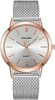 Womens Rhinestone Wristwatch, Balakie Fashion Stainless Steel Mesh Band Analog Quartz Watch-A156 Lover Memorial Gifts