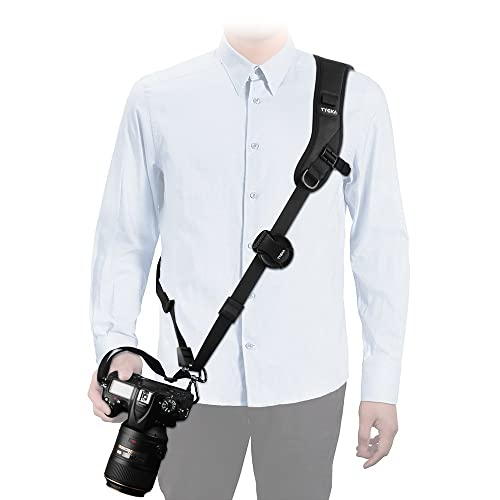 Tycka Camera Shoulder Neck Strap, Top-level protection to Camera, good for wedding shoot, activity, wildlife or journey filmed; Anti-Slip and Durable design, equipped with Quick Release Plate and Safety Tether