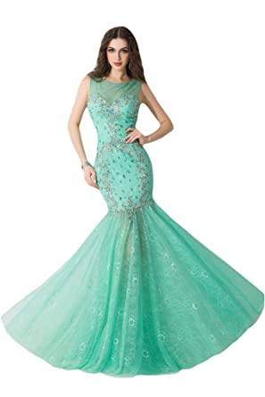 Ivydressing Exquisite Mermaid Prom Gowns Beaded Evening Bridesmaid