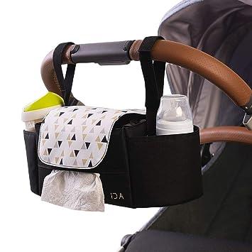 Universal Baby Trolley Storage Bag Stroller Cup Carriage Pram Buggy#Organizer YR