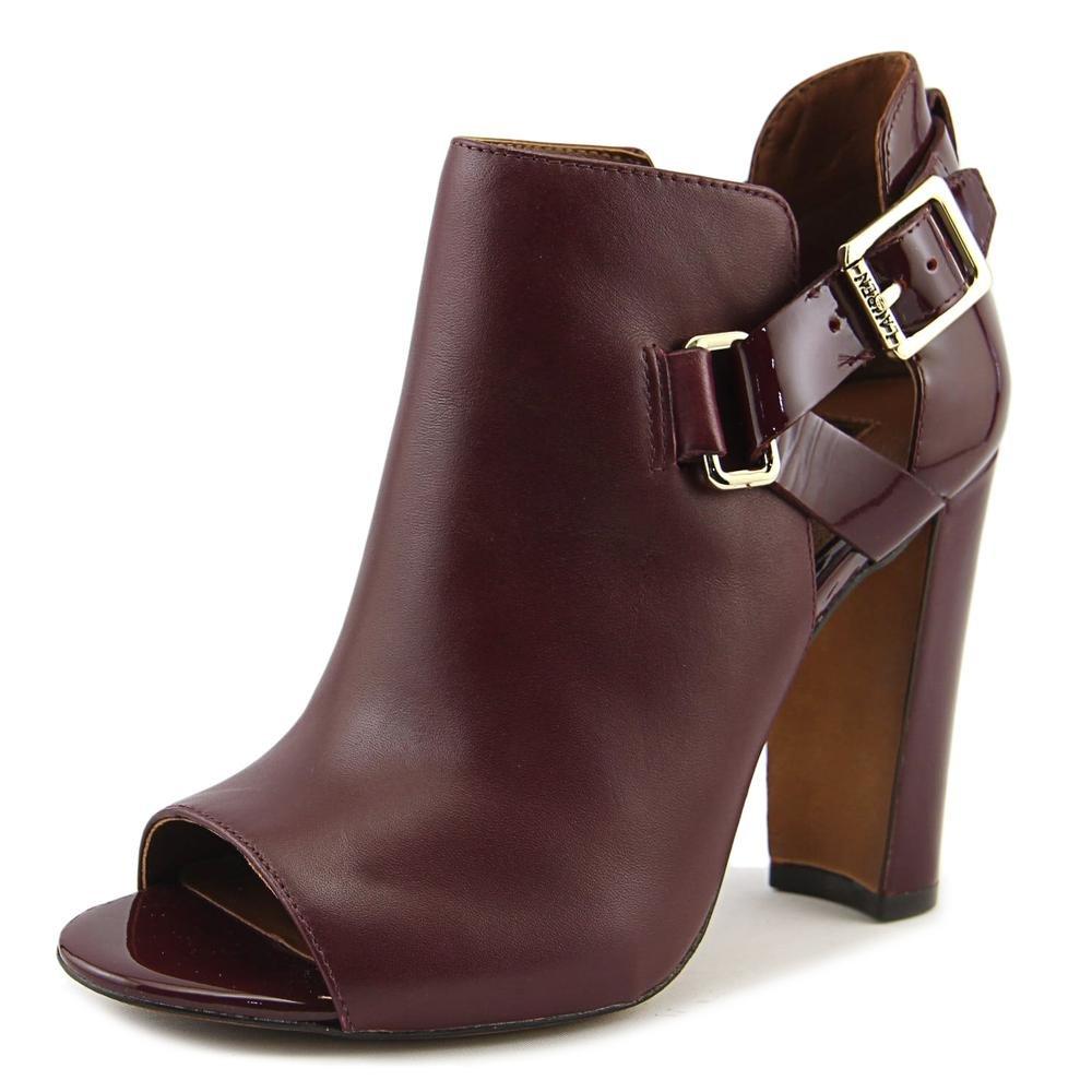 Lauren by Ralph Lauren Womens Kadence Leather Open Toe Ankle, CLRT, Size 8.5