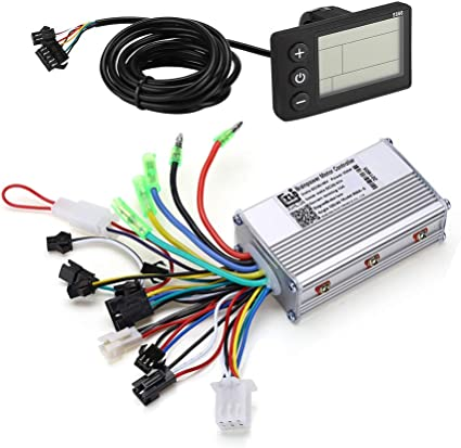 Waterproof LCD Display Panel Electric Bicycle Scooter Controller Kit 36V-48V US