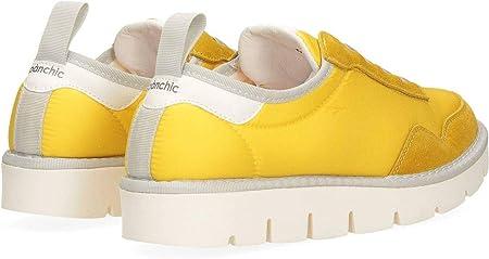 PANCHIC P05W14006NS4A00074-SOLEIL - Slip para mujer P05 amarillo de nailon y ante