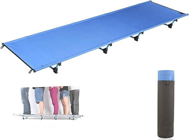 Sxinga Camping al aire libre 3 libras ligero 7001 de aluminio plegable cama Cuna tienda de campaña abrigo portátil plegable cama de camping