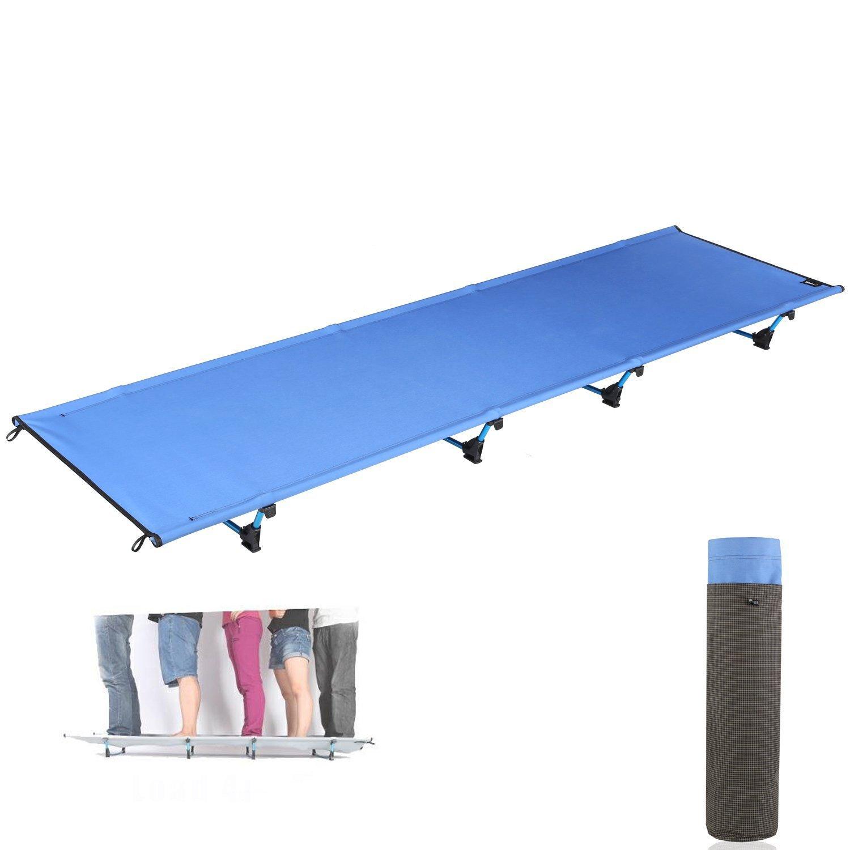 Sxinga Camping Outdoor 7001 Luftfahrt Aluminiumrahmen Ultraleicht Feldbett Campingbett Klappbett bis 200 kg belastbar