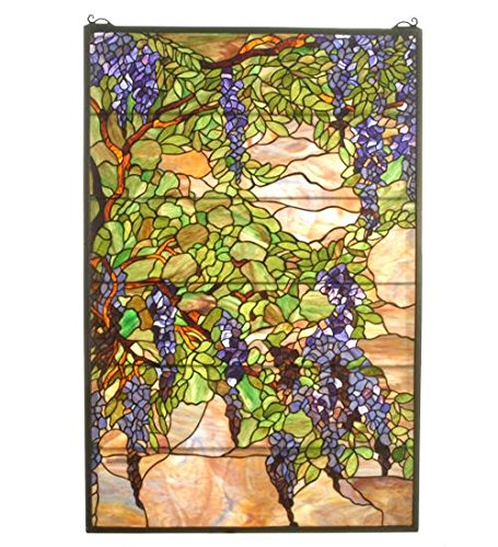 (Meyda Tiffany 51338 Tiffany Wisteria & Snowball Stained Glass Window, 32