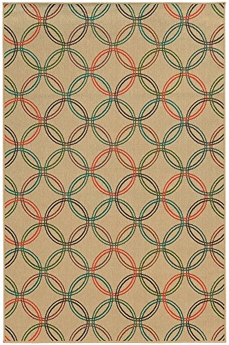 Tommy Bahama Seaside 3.7 X 5.6 Indoor/Outdoor Rug By Oriental Weavers - Beige & Multi (Tommy Rugs Bahama Outdoor)
