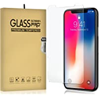 iPhone XR Screen Protector, 2-Pack Temper Glass Screen Protector for iPhone XR 9H Hardness Crystal Clear Scratch Resistant Bubble Free Easy Installation Screen Film