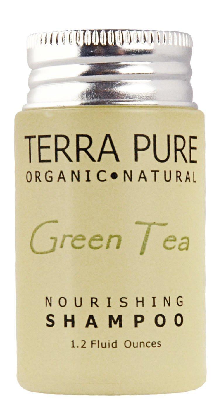 Terra Pure Green Tea Shampoo, 1 Oz. In Jam Jar With Organic Honey And Aloe Vera (Case of 300)