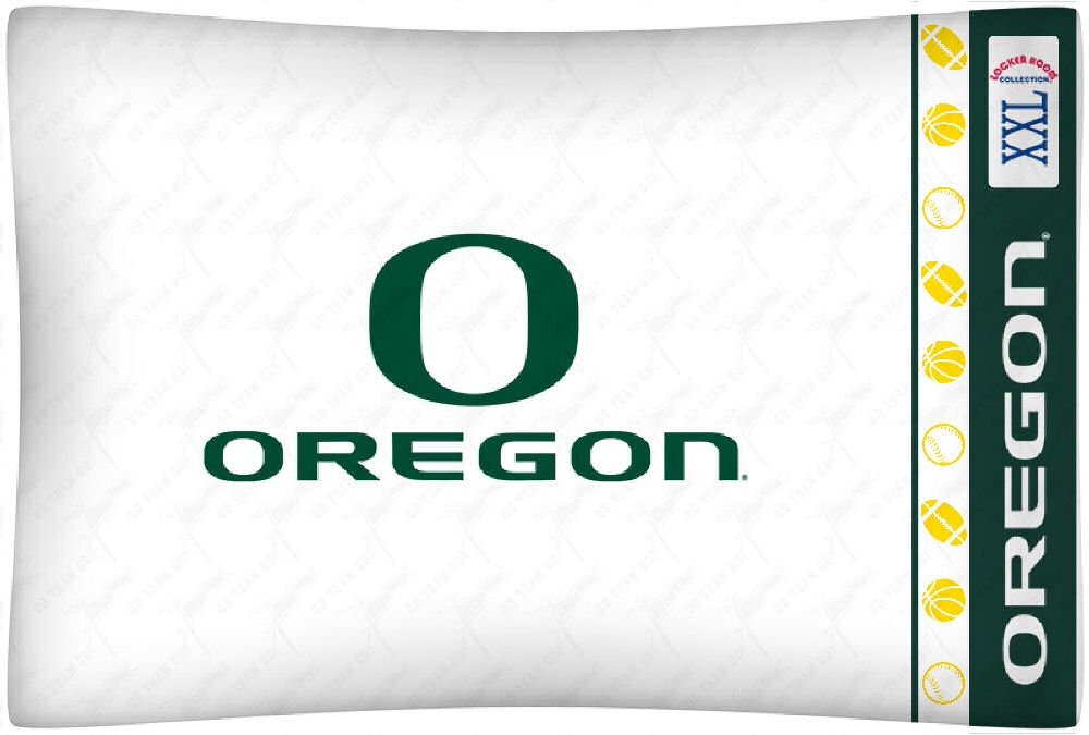 Sports Coverage NCAA Oregon Ducks Micro Fiber Pillow Cases, Standard, White by Sports Coverage