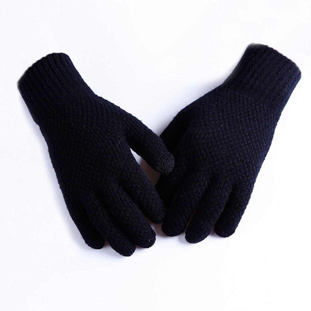 HW@ST- 冬秋 メンズ レディース ニット 手袋 タッチ フォン 厚手 暖かい手袋 メンズ 手袋 女の子 男の子 オートバイ ライディンググローブ  C B07FW6HBGB