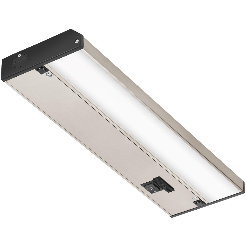 GetInLight 3色レベル 調光可能 LED アンダーキャビネット照明、ETLリスト付き 、温白色(2700K)、柔らかい白(3000K)、明るい白(4000K) 12 Inch シルバー IN-0210-1-SN B01MZ7D613 12 Inch つや消しニッケル つや消しニッケル 12 Inch