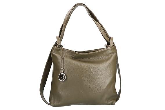 102c010d8dff6 Tasche damen Rucksack PIERRE CARDIN taupe in leder MADE IN ITALY VN2618