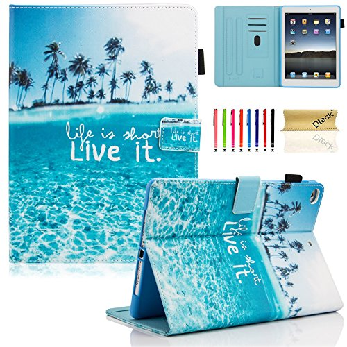iPad 2017 9.7 inch Case / iPad Air 2 Case / iPad Air Case, Dteck PU Leather Folio Smart Cover with Auto Sleep Wake Stand Wallet Case for New iPad 9.7 Inch 2017,iPad Air 1 2