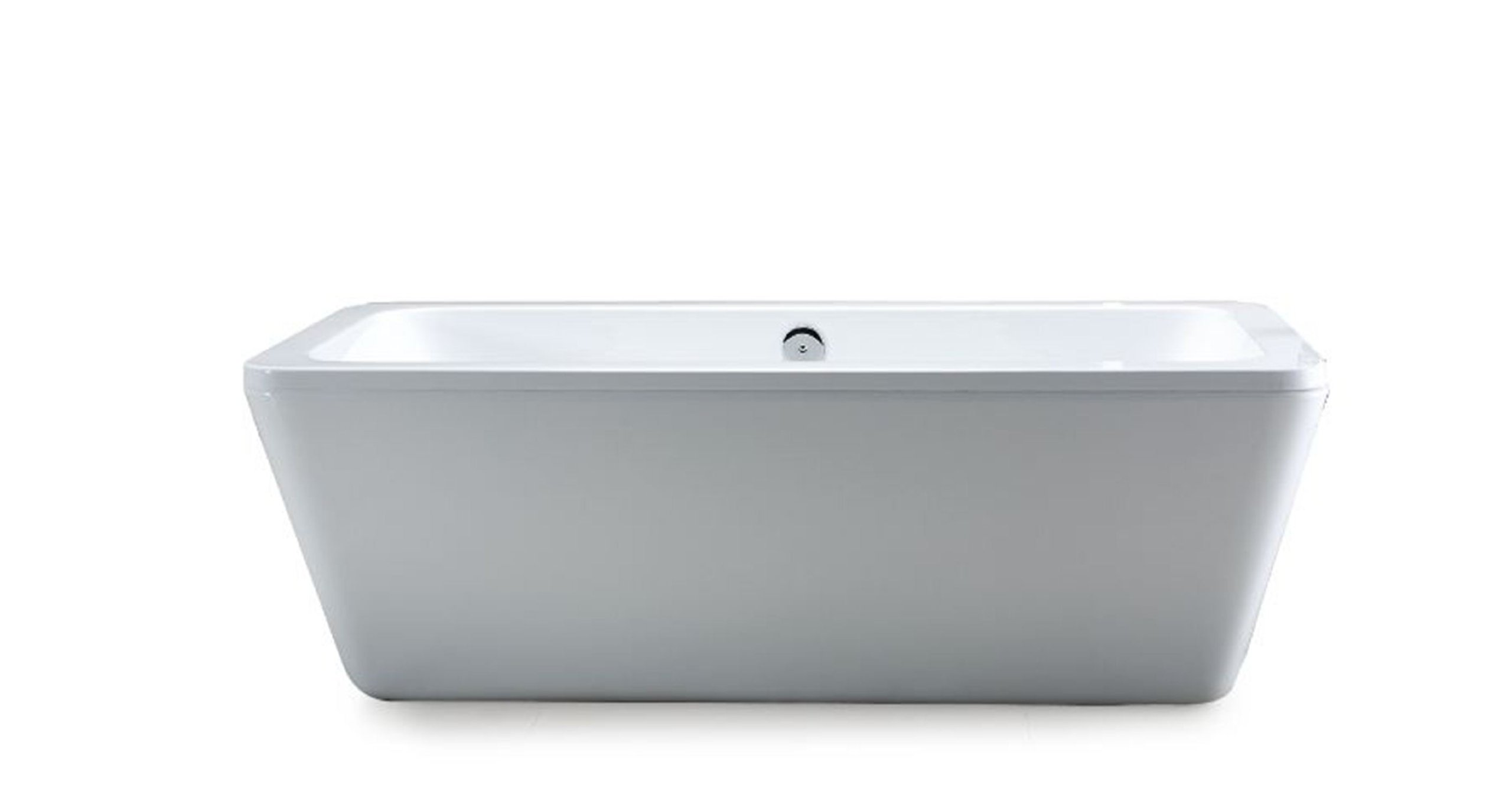 Ove Decors Kido 69-Inch Freestanding Acrylic Bathtub, Glossy White by Ove Decors