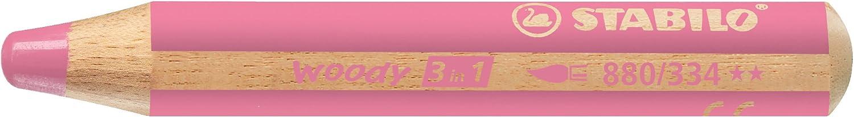 STABILO Woody 3 in 1 matitone colorato colore Rosa - Confezione da 5 Stabilo International GmbH 880/334